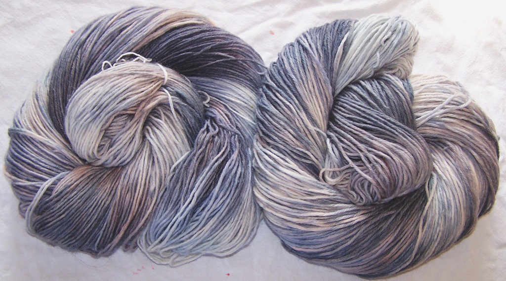 Grey blue taupe 8ply