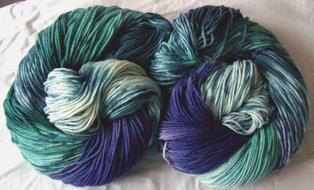 Emerald purple 8ply