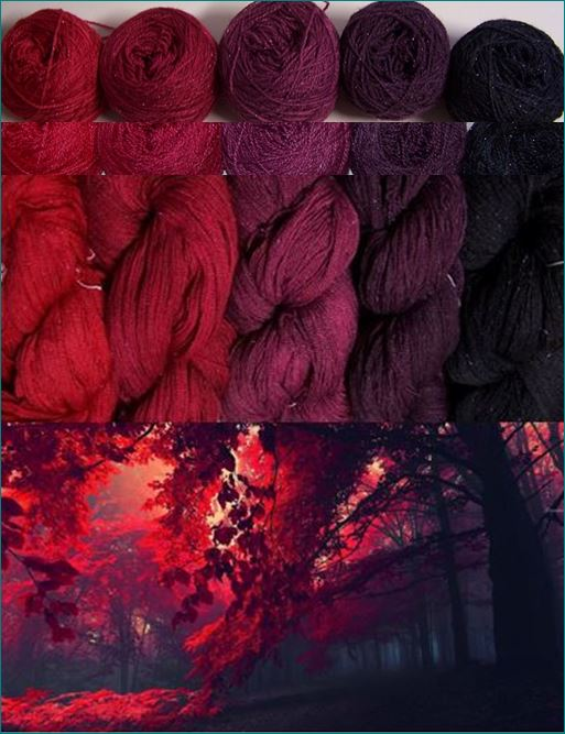 Setje red purple Lace 800 Gl